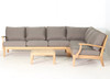 Classic Teak Sectional Corner Sofa Set