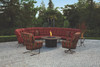 Monterra Sectional Firepit Lounge Set by Ow Lee