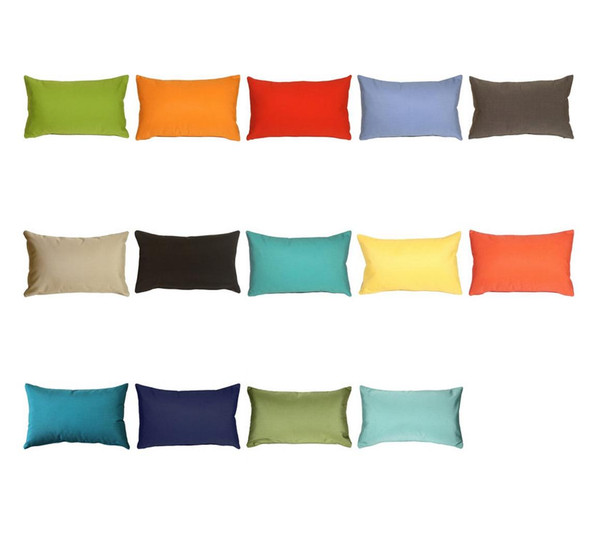 Sunbrella® Custom Lumbar Pillow