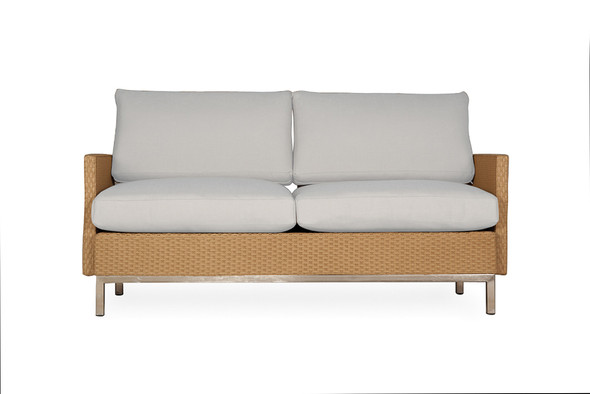 Element Settee with Loom Arms & Back by LLoyd Flander
