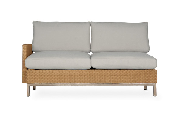 Elements Right Arm Settee with Loom Arm & Back By Lloyd Flanders