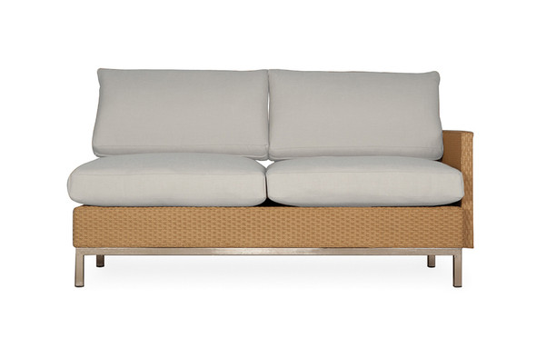 Elements Left Arm Settee with Loom Arm & Back By Lloyd Flanders