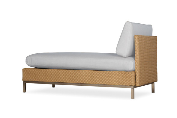Elements Armless Chaise with Loom Back By Lloyd Flanders