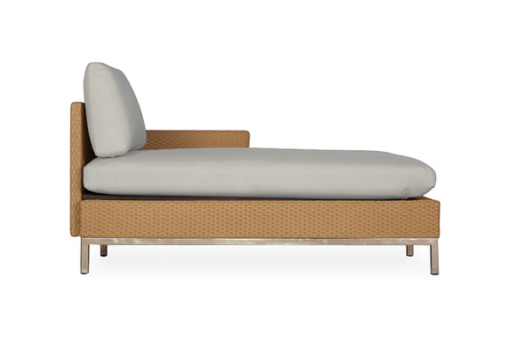 Elements Left Arm Chaise with Loom Arm & Back By Lloyd Flanders