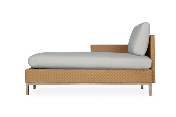 Elements Right Arm Chaise with Loom Arm & Back By Lloyd Flanders
