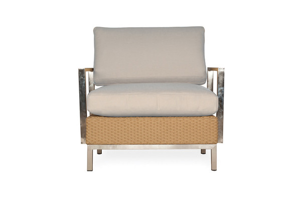 Elements Lounge Chair with Stainless Steel Arms & Back By Lloyd Flanders