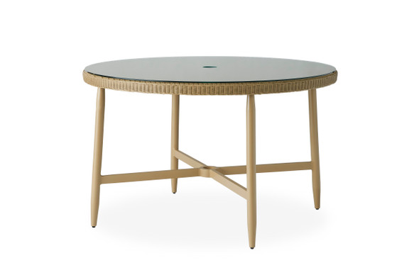 "Fairview 48"" Round Umbrella Dining Table By Lloyd Flanders"