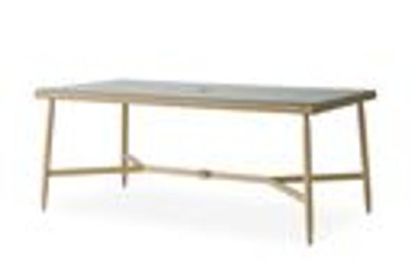 "Fairview 73"" Rectangular Umbrella Dining Table By Lloyd Flanders"