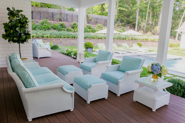 Hamptons  Large Ottoman by Lloyd Flanders