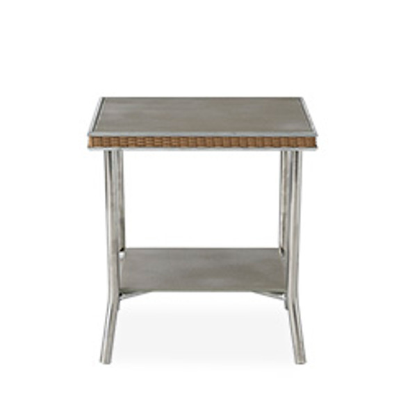 "Visions 20"" Square End Table with Taupe Glass by Lloyd Flanders"