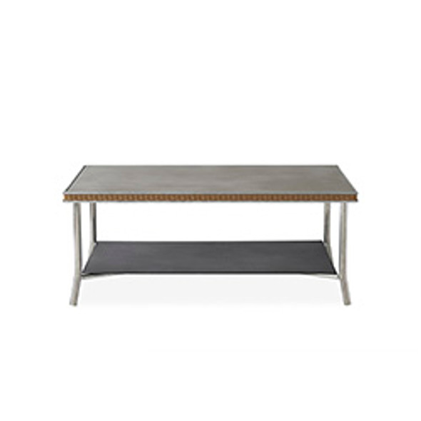 "Visions 42"" Rectangular Cocktail Table with Taupe Glass by Lloyd Flanders"