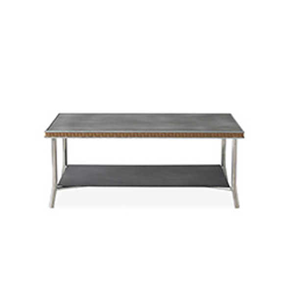 "Visions 42"" Rectangular Cocktail Table with Charcoal Glass by Lloyd Flanders"