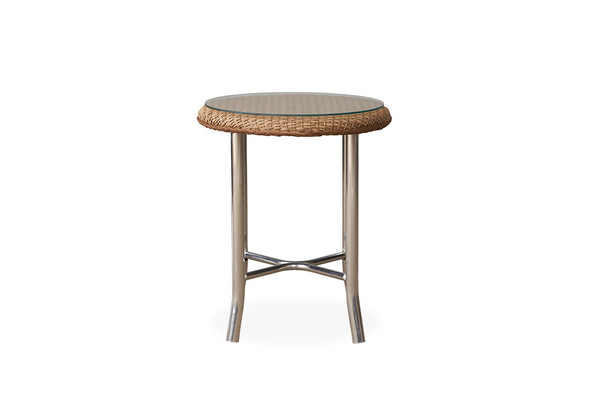"Weekend Retreat 20"" Round End Table By Lloyd Flanders"
