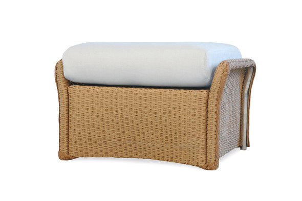 Weekend Retreat Woven Ottoman By Lloyd Flanders
