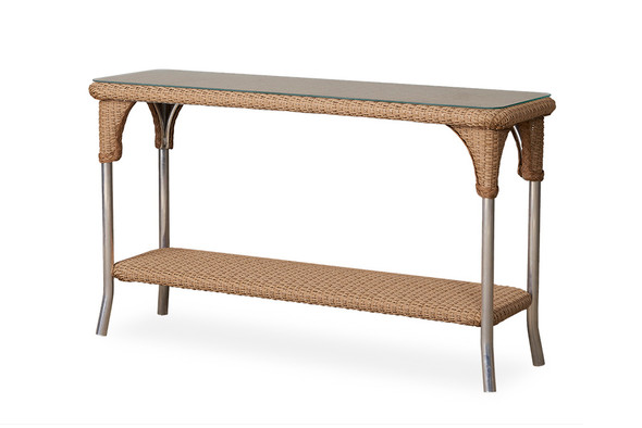 "Universal Loom 52"" Console Table By Lloyd Flanders"