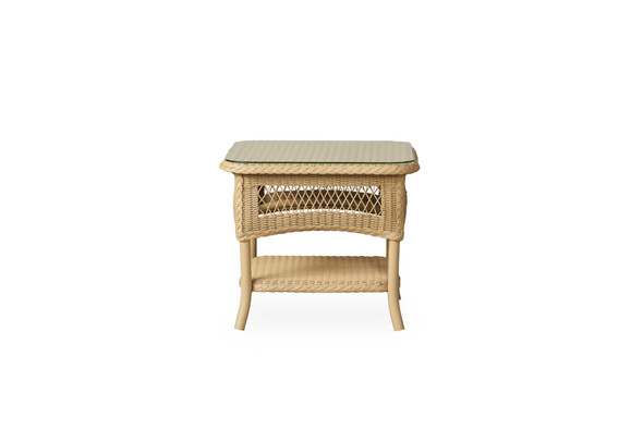 "Universal Loom 21"" Square End Table 2x2 Weave By Lloyd Flanders"
