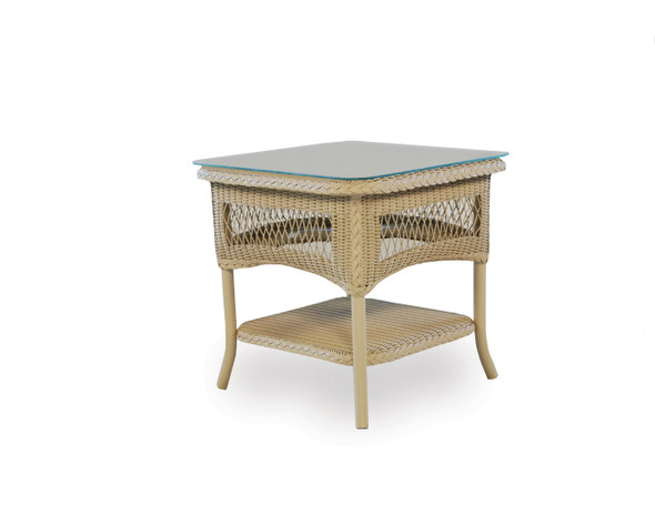 "Universal Loom 21"" Square End Table 2x2 Weave By Lloyd Flanders"
