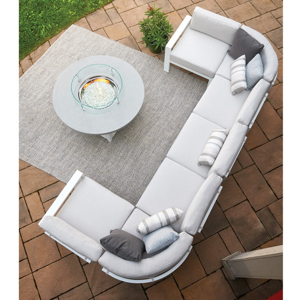 Larssen Cushion Collection Armless Single Seat Section By Telescope