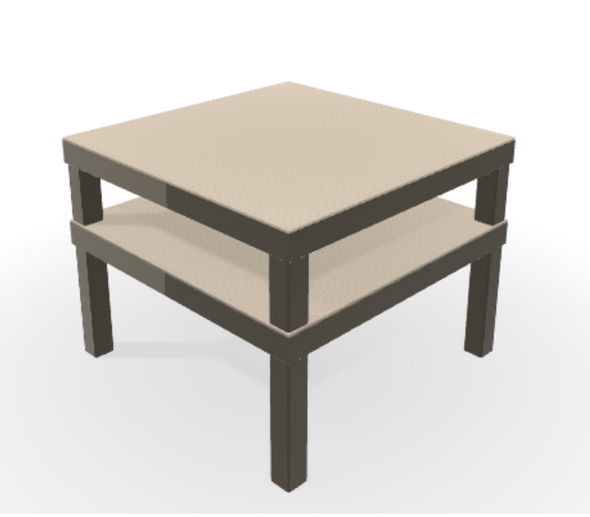 "Leeward MGP 28.5"" x 28.5"" Corner Table by Telescope"