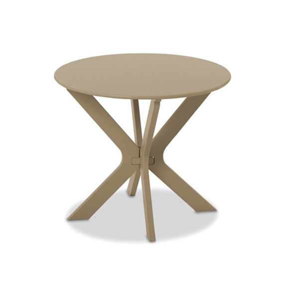 "Wexler MGP Cushion 23"" Round End Table By Telescope"