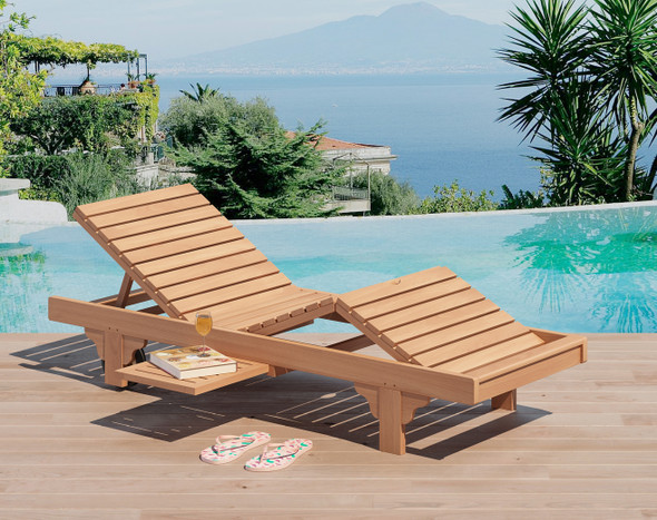Classic Teak Chaise Lounger