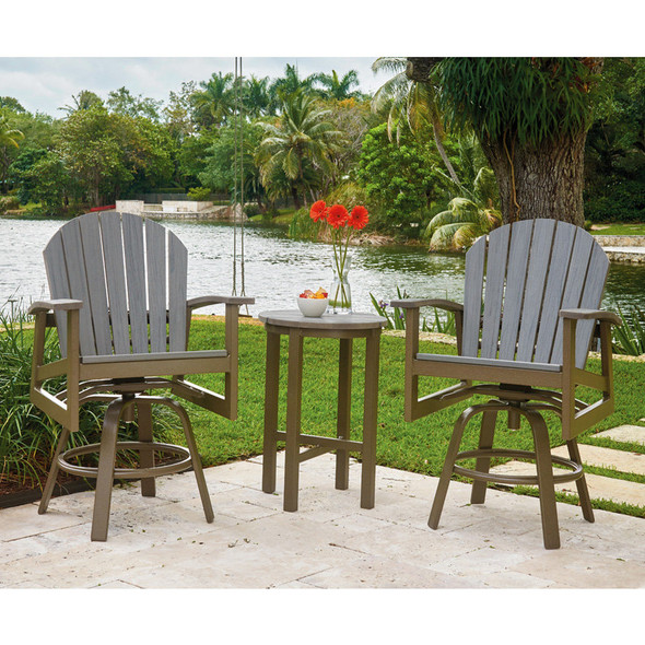 Newport Balcony Height Swivel Arm Chair By Telescope