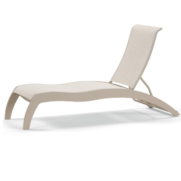 Dune MGP Sling  Stacking Armless Chaise w/ Wheels By Telescope
