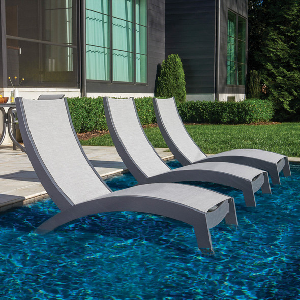Dune MGP Sling  Stacking Hydro-Lounge Chaise By Telescope