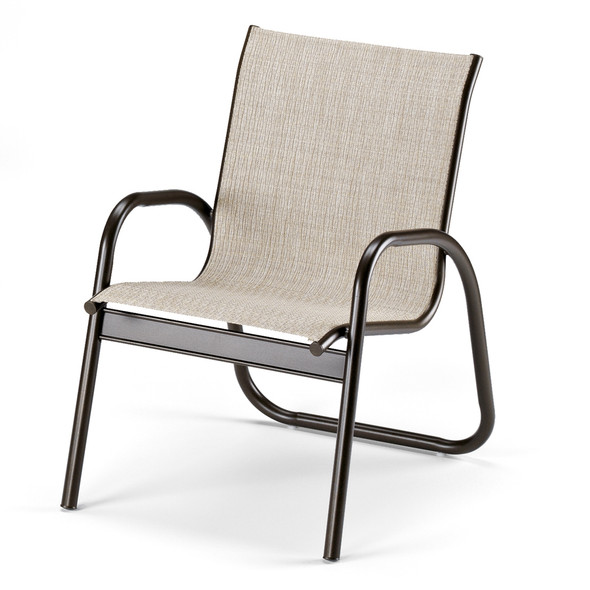 Gardenella Sling Stacking Arm Chair By Telescope