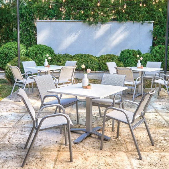 Gardenella Sling Stacking Bistro Chair By Telescope
