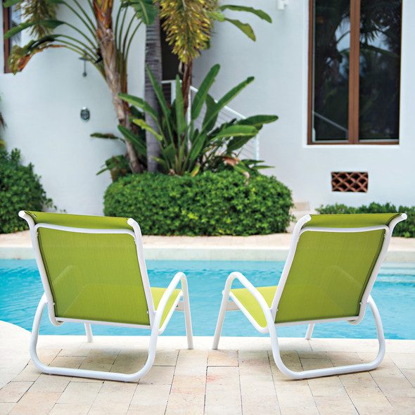 Gardenella Sling Stacking Poolside Chair By Telescope