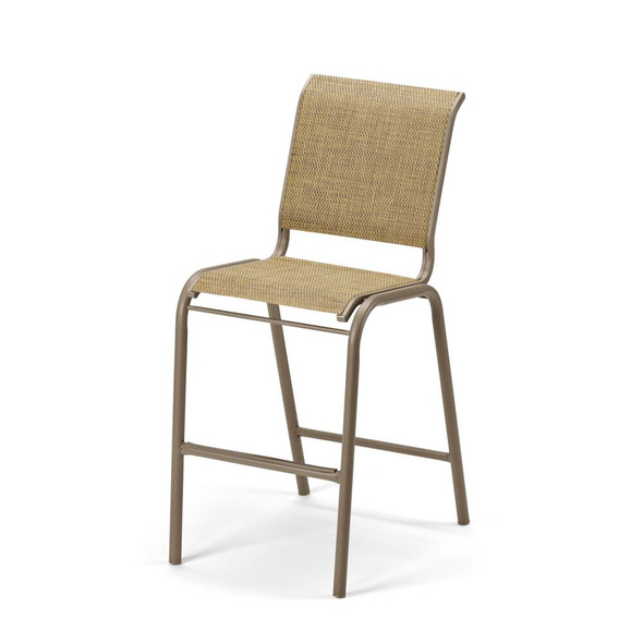 Gardenella Sling Bar Height Stacking Armless Cafe Chair By Telescope