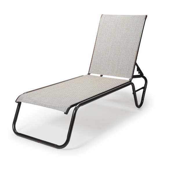 Gardenella Sling Four-Position Stacking Chaise By Telescope