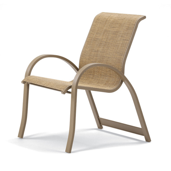 Aruba Sling Supreme Stacking Arm Chair By Telescope
