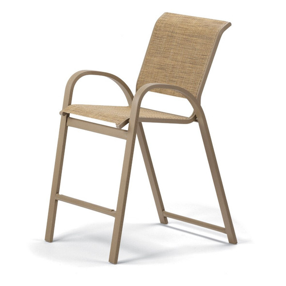 Aruba Sling Bar Height Stacking Cafe Chair By Telescope