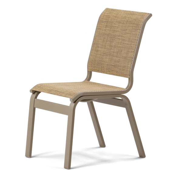Aruba Sling Dining Height Armless Cafe Chair By Telescope