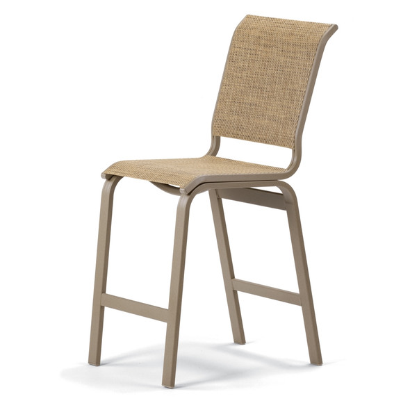 Aruba Sling Balcony Height Armless Cafe  Chair By Telescope