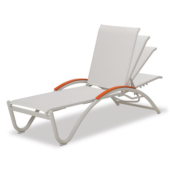 Helios Contract Sling Four-Position Lay-flat Stacking Chaise By Telescope