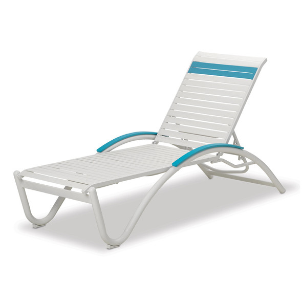 Helios Contract Strap Four-Position Lay-flat Stacking Chaise By Telescope