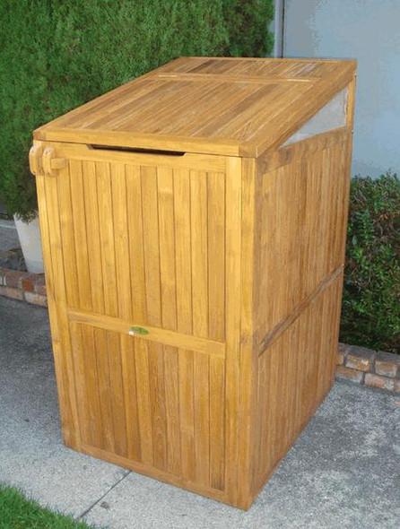 Teak Trash Can Box by Classic Teak