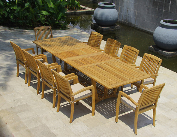Daytona Teak Dining Table Set 11Pc