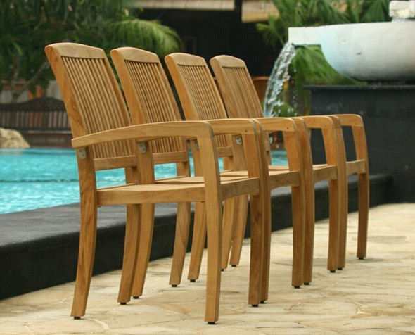 Daytona Teak Dining Table Set 5Pc