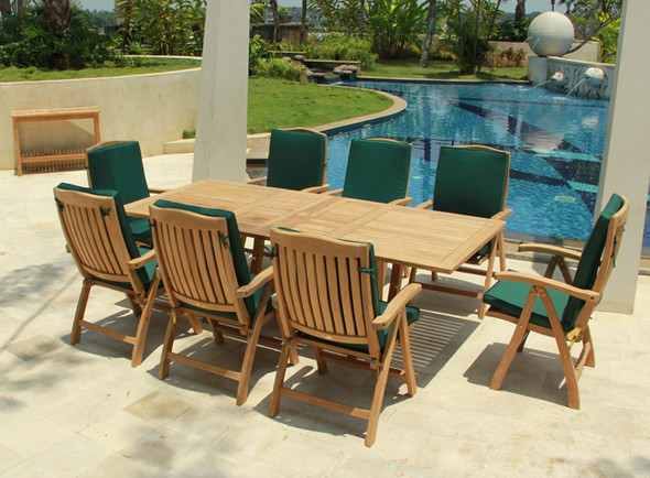 Classic Teak Slumber Table Set 9PC