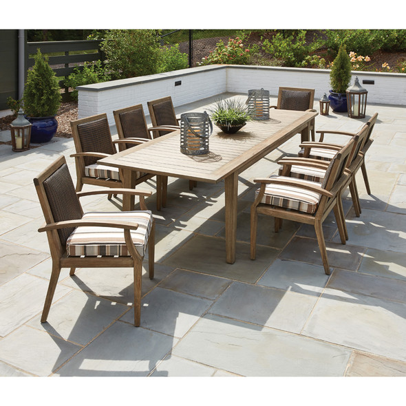 Lloyd Flanders Wildwood Teak Dining Set for 8