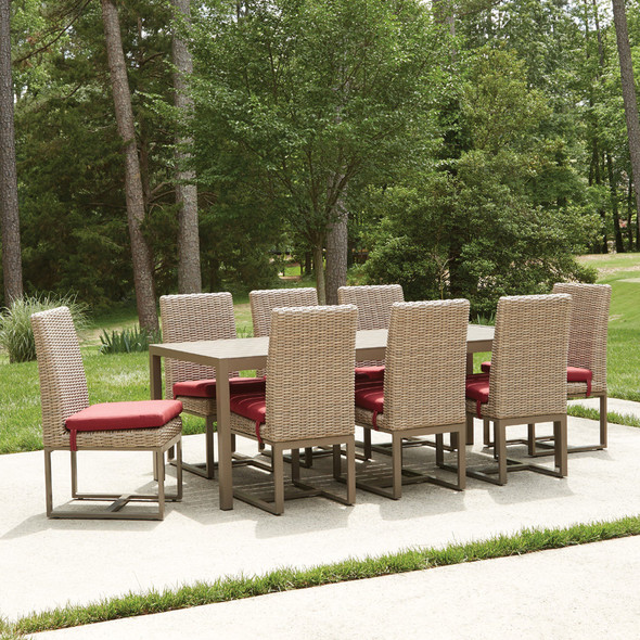 Milan Outdoor Dining Set with Seat Cushions By Lloyd Flanders