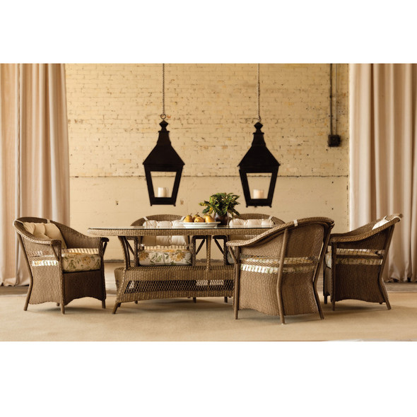 Nantucket 7 Piece Wicker Dining Set By Lloyd Flanders