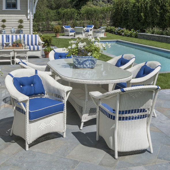 Nantucket Loom Wicker Patio Dining Set By Lloyd Flanders