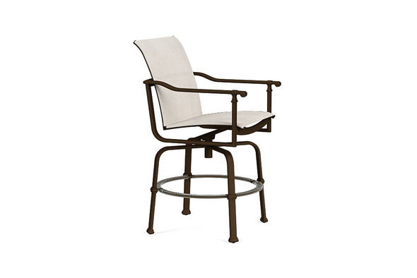 Fremont Sling Swivel Balcony Chair By Brown Jordan