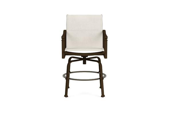 Fremont Sling Swivel  Bar Chair By Brown Jordan