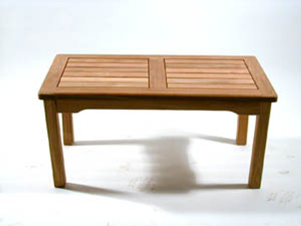 "Classic Teak Coffee Table 36"" x 20"" Rectangular"